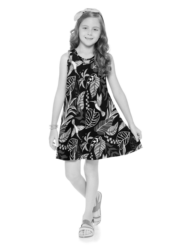 Vestido Infantil Estampado Magenta Kyly