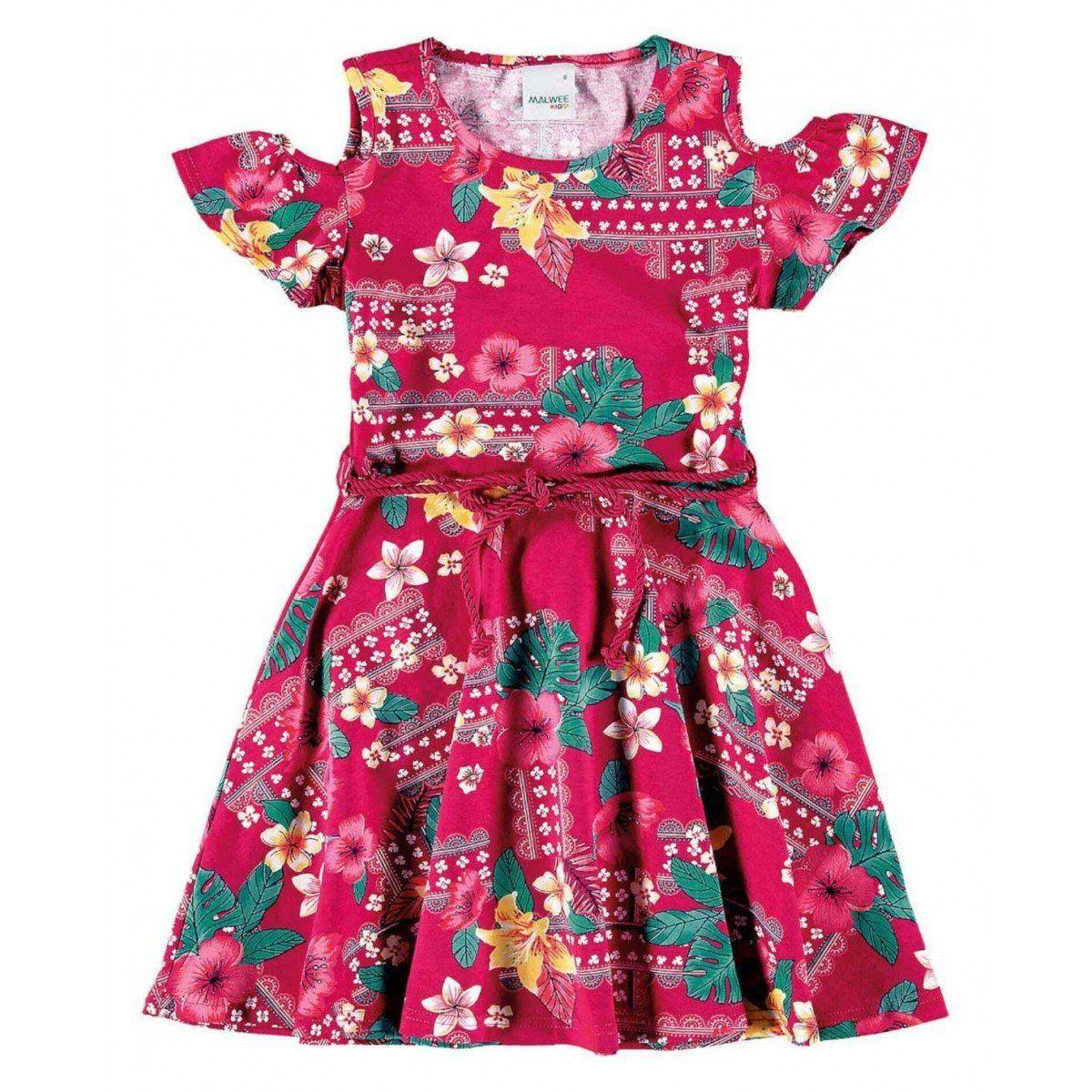 e9eda544f1 Vestido Infantil Feminino Rosa Verão Malwee