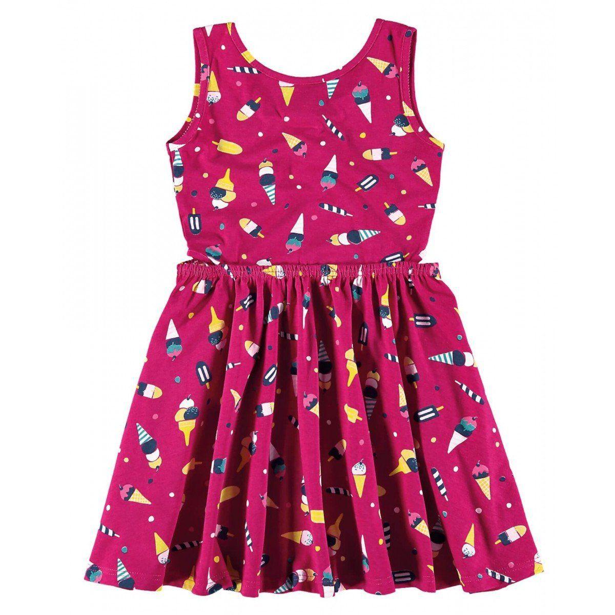 Vestido Infantil Rosa Sorvetes Malwee
