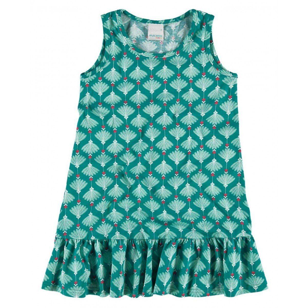 Vestido Infantil Verde Água Pétalas Malwee