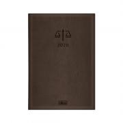 Agenda Executiva Costurada Diária de Mesa Advogado Marrom 2020 Tilibra