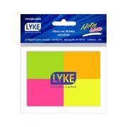 Bloco Autoadesivo Neon 38mm x 50mm Colorido 4 Blocos c/ 100 Folhas Lyke
