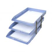 Caixa de Correspondência Tripla Móvel Azul Claro Dello