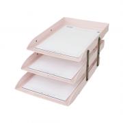 Caixa de Correspondência Tripla Móvel Rosa Claro Dello