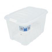 Caixa Organizadora Cristal com Tampa 78L Gran Box Alta Plasútil