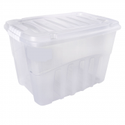 Caixa Organizadora Cristal com Tampa 56L Gran Box Alta Plasútil