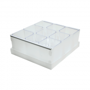 Caixa Organizadora de Objetos Cristal com 9 Divisores Dello