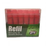 Refil p/ Marcador para Quadro Branco Vermelho 24 Unidades NeoMundi