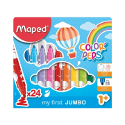 Caneta Hidrocor Color'Peps Jumbo 24 Cores Maped