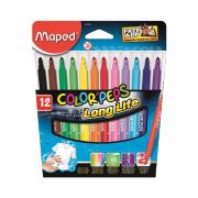 Caneta Hidrográfica Color'Peps Long Life 12 Cores Maped