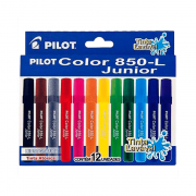 Caneta Hidrográfica 850L Junior 12 Cores Pilot Color