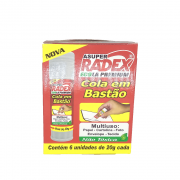 Cola Bastão Ecola 20g 6 Unidades Radex