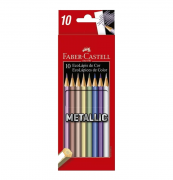 Ecolápis de Cor 10 Cores Metallic Faber Castell