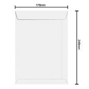 Envelope Branco 176mm x 248mm 75g 6381 Ipecol