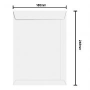 Envelope Branco 185mm x 248mm 75g 6372 Ipecol