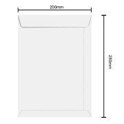 Envelope Branco 200mm x 280mm 90g 6463 Ipecol