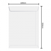 Envelope Branco 229mm x 324mm 75g 250 Unidades 6374 Ipecol