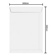 Envelope Branco 240mm x 340 90g 6465 Ipecol