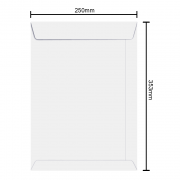 Envelope Branco 250mm x 353mm 75g 6376 Ipecol