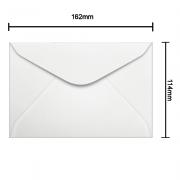 Envelope Branco 114mm x 162mm 75g 0001 Ipecol
