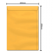Envelope Ouro 200mm x 280mm 80g 6172 Ipecol