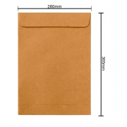 Envelope Kraft 260mm x 365mm 80g 250 Unidades 6270 Ipecol