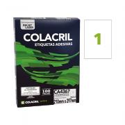 Etiqueta A4 210mm x 297mm 100 Folhas CA4367 Colacril