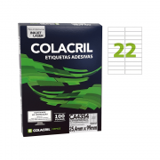 Etiqueta A4 25,4mm x 99mm 100 Folhas CA4354 Colacril