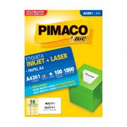 Etiqueta A4 46,5mm x 63,5mm 100 Folhas A4361 Pimaco