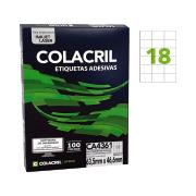 Etiqueta A4 63,5mm x 46,6mm 100 Folhas CA4361 Colacril