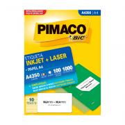 Etiqueta A4 55,8mm x 99mm 100 Folhas A4350 Pimaco