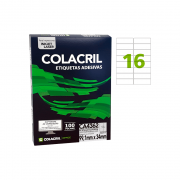 Etiqueta A4 99,1mm x 34mm 100 Folhas CA4362 Colacril