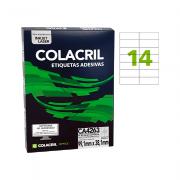 Etiqueta A4 99,1mm x 38,1mm 25 Folhas CA4263 Colacril