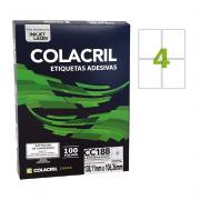 Etiqueta Carta 138,11mm x 106,36mm 100 Folhas CC188 Colacril