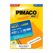 Etiqueta Carta 25,4mm x 101,6mm 100 Folhas 6181 Pimaco