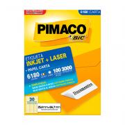 Etiqueta Carta 25,4mm x 66,7mm 100 Folhas 6180 Pimaco