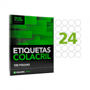 Etiqueta Carta Ø 42,33mm 100 Folhas CC193 Colacril