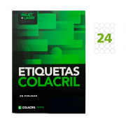 Etiqueta Carta Ø 42,33mm 25 Folhas CC293 Colacril