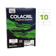 Etiqueta Carta 46,56mm x 77,79mm 25 Folhas CC299F Colacril