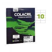 Etiqueta Carta 50,8mm x 101,6mm 25 Folhas CC283 10 Unidades Colacril