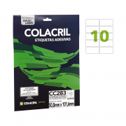 Etiqueta Carta 50,8mm x 101,6mm 25 Folhas CC283 Colacril