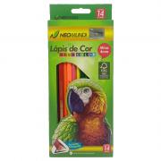 Lápis de Cor 14 Cores Mega Color + Apontador + Borracha  NeoMundi
