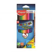 Lápis de Cor Color'Peps 4mm Super Macio 12 Cores + Apontador + Lápis Grafite Maped