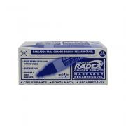 Marcador para Quadro Branco Recarregável Asuper Azul 12 Unidades Radex