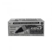 Marcador para Quadro Branco Recarregável Asuper Preto 12 Unidades Radex