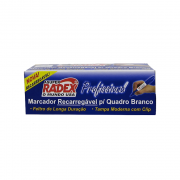 Marcador para Quadro Branco Recarregável Profissional Azul 12 Unidades Radex