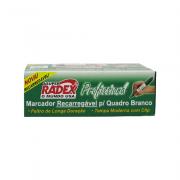 Marcador para Quadro Branco Recarregável Profissional Verde 12 Unidades Radex