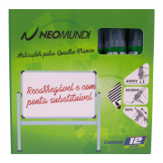 Marcador para Quadro Branco Recarregável Verde 12 Unidades NeoMundi