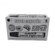 Marcador Permanente Preto 6 Unidades Super Canettão Radex