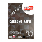 Papel Carbono A4 Preto 100 Folhas Radex